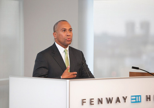 Gov. Patrick addresses Health Care Reform Act at Fenway Health