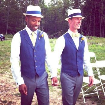 Wedding annoucement: Benjamin Perkins and David Brown